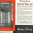 De Wurlitzer 500 en Wurlitzer 600 jukebox